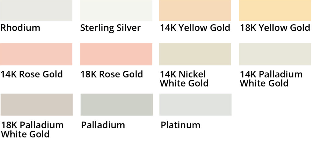 Ring Setting Color Comparison: Yellow Gold, White Gold, Platinum...
