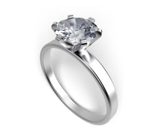 Solitaire Ring 6 Prong Setting
