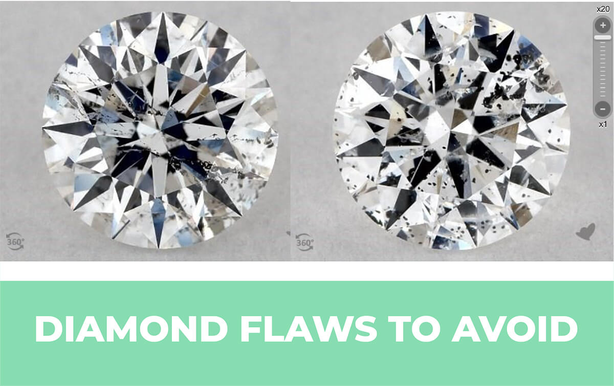 Diamond Flaws To Avoid Diamond Inclusions Imperfections