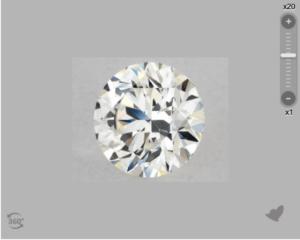 VVS2 Diamond at 10x magnification