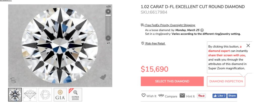 Price 1 carat diamond