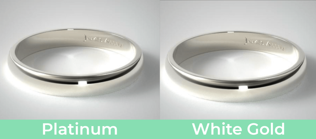 Platinum vs white gold