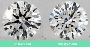 SI1 vs VS2 Diamonds