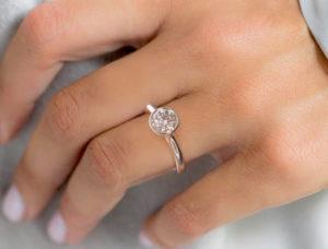 Bezel Setting Bezel Diamond Ring Engagement Ring