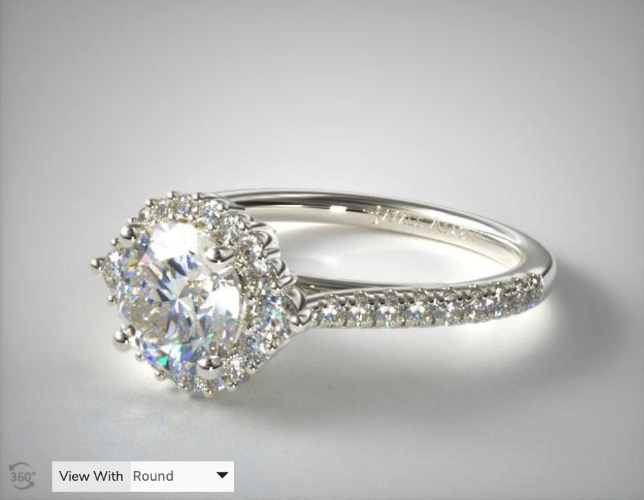 Halo Ring Average Diamond Size