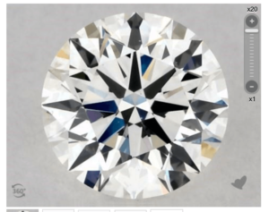 G colored diamond vs2 clarity
