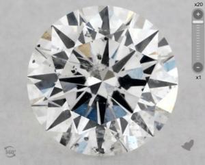 non eye-clean si2 diamond