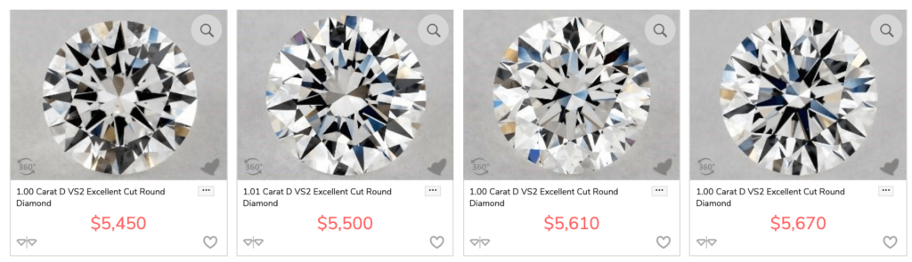 i color diamond comparison